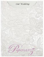 Glamour Pocket C6 - Embossed Spring White Pearl