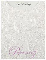 Glamour Pocket C6 - Embossed Tuscany White Pearl