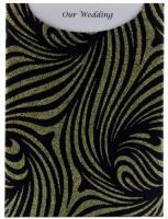 Glamour Pocket C6 - Glitter Print Venus Black & Gold Glitter