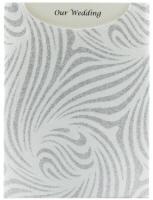 Glamour Pocket C6 - Glitter Print Venus White & Silver Glitter