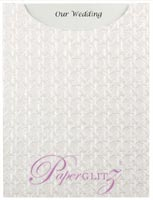 Glamour Pocket C6 - Embossed Wicker White Pearl