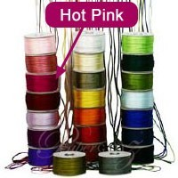 2.5mm China Knot Satin Cord - 100Mtr Roll - Hot Pink