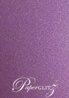 150mm Square Short Side Pocket Fold - Classique Metallics Orchid