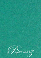 DL Scored Folding Card - Classique Metallics Turquoise