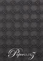 Glamour Add A Pocket V Series 14.5cm - Embossed Cross Stitch Black Pearl