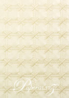 Glamour Pocket 150mm Square - Embossed Cross Stitch Ivory Pearl