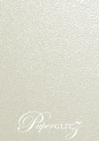 DL Tear Off RSVP Card - Crystal Perle Metallic Antique Silver