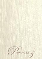 Petite Scored Folding Card 80x135mm - Crystal Perle Metallic Arctic White Lumina