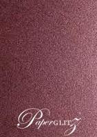 13.85x20cm Flat Card - Crystal Perle Metallic Berry Purple