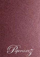 120x175mm Flat Card - Crystal Perle Metallic Berry Purple