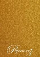 120x175mm Flat Card - Crystal Perle Metallic Bronze
