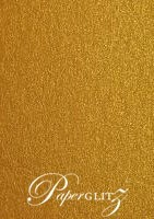 DL Scored Folding Card - Crystal Perle Metallic Bronze