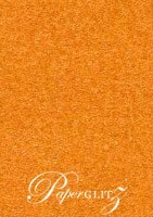 13.85x20cm Flat Card - Crystal Perle Metallic Copper