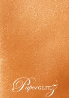150mm Square Short Side Pocket Fold - Crystal Perle Metallic Copper