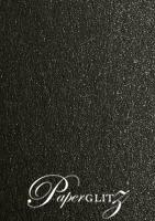 120x175mm Scored Folding Card - Crystal Perle Metallic Glittering Black
