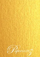 13.85x20cm Flat Card - Crystal Perle Metallic Gold
