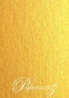 120x175mm Flat Card - Crystal Perle Metallic Gold