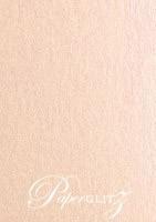13.85x20cm Flat Card - Crystal Perle Metallic Pastel Pink