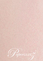DL Scored Folding Card - Crystal Perle Metallic Pastel Pink