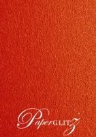 13.85x20cm Flat Card - Crystal Perle Metallic Scarlet Red