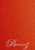 110x165mm Flat Card - Crystal Perle Metallic Scarlet Red