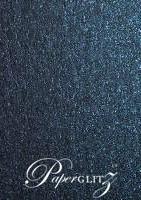 13.85x20cm Flat Card - Crystal Perle Metallic Sparkling Blue