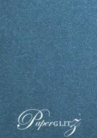 120x175mm Scored Folding Card - Curious Metallics Blue Print