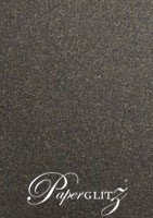 Petite Scored Folding Card 80x135mm - Curious Metallics Chocolate