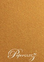 120x175mm Scored Folding Card - Curious Metallics Cognac