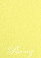13.85x20cm Flat Card - Curious Metallics Lime
