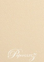 DL Tear Off RSVP Card - Curious Metallics Nude