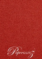 Petite Scored Folding Card 80x135mm - Curious Metallics Red Lacquer
