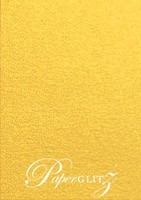 Petite Scored Folding Card 80x135mm - Curious Metallics Super Gold