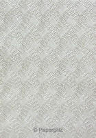 Handmade Embossed Paper - Destiny Silver Pearl A4 Sheets