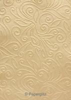 Handmade Embossed Paper - Elyse Mink Pearl Full Sheet (56x76cm)