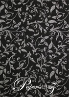 Glamour Pocket DL - Glitter Print Enchanting Black & Silver Glitter