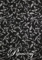 Glamour Pocket DL - Glitter Print Enchanting Black & Silver Glitter