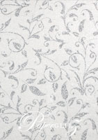 Glamour Add A Pocket 9.9cm - Glitter Print Enchanting DS White Pearl & Silver Glitter