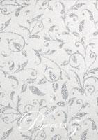 Glamour Pocket DL - Glitter Print Enchanting White Pearl & Silver Glitter