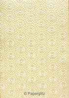 Handmade Embossed Paper - Eternity Ivory Pearl A4 Sheets