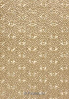 Handmade Embossed Paper - Eternity Mink Pearl A4 Sheets