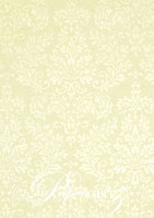 Handmade Embossed Paper - Embossed Grace Ivory Pearl A4 Sheets