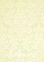 Handmade Embossed Paper - Embossed Grace Ivory Pearl Full Sheet (56x76cm)