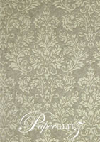 Handmade Embossed Paper - Embossed Grace Pewter Pearl Full Sheet (56x76cm)