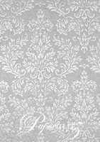Handmade Embossed Paper - Embossed Grace Silver Pearl Full Sheet (56x76cm)