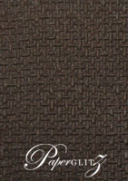 Glamour Add A Pocket V Series 9.6cm - Embossed Jute Chocolate Pearl