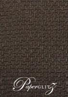 Handmade Embossed Paper - Jute Chocolate Pearl Full Sheet (56x76cm)