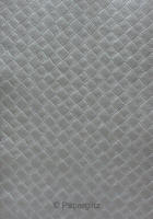 Handmade Embossed Paper - Leatherette Midnight Pearl Full Sheet (Special Size 66x66cm)