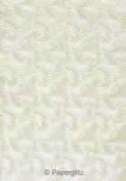 Glamour Pocket 150mm Square - Embossed Majestic Swirl White Pearl