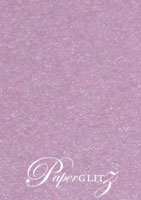 12cm Square Scored Folding Card - Stardream Metallic Amethyst